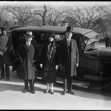 The Coolidges and Ambassador Dwight W. Morrow attend the International Conference of American States, December 1928