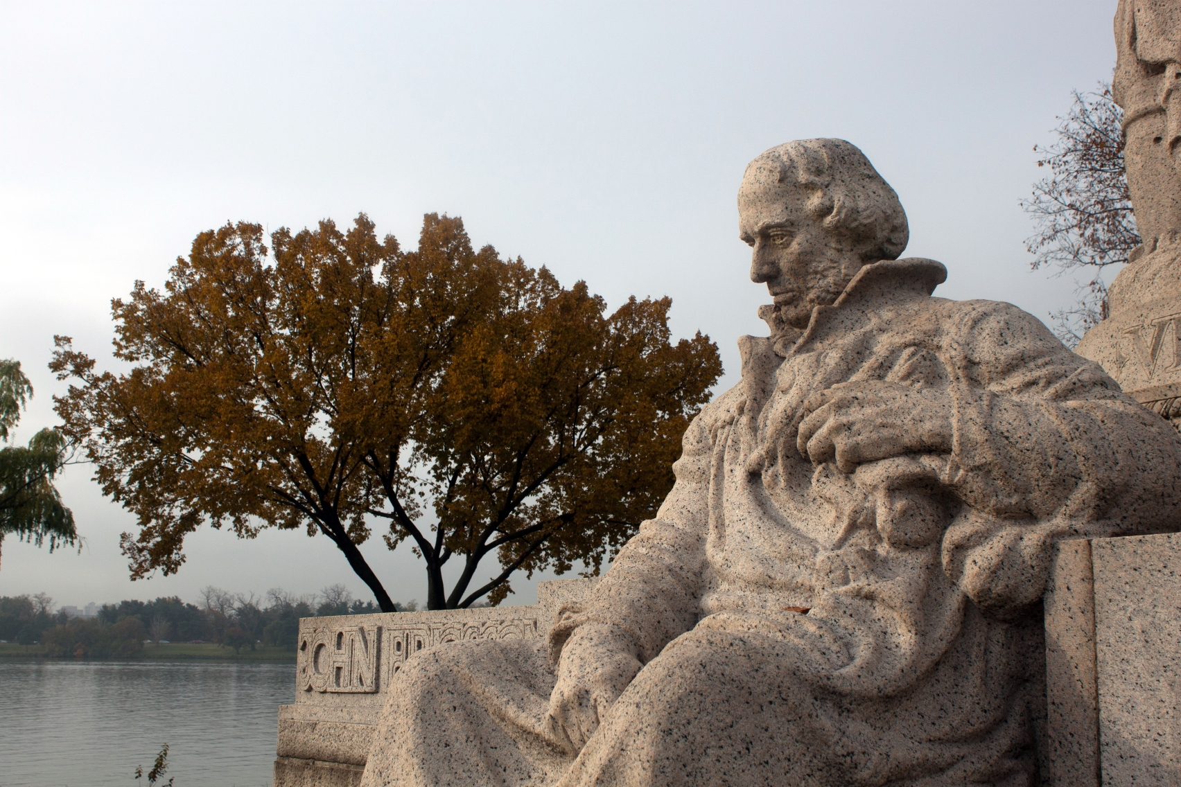 John Ericsson Memorial, sculpted by James Earle Fraser from pink Milford granite. Fraser would create some of the most iconic images of modern time, from the Buffalo nickel, the bronze of General Patton at West Point, the Franklin Memorial in Philadelphia and the Contemplation of Justice atop the Supreme Court Building in Washington.