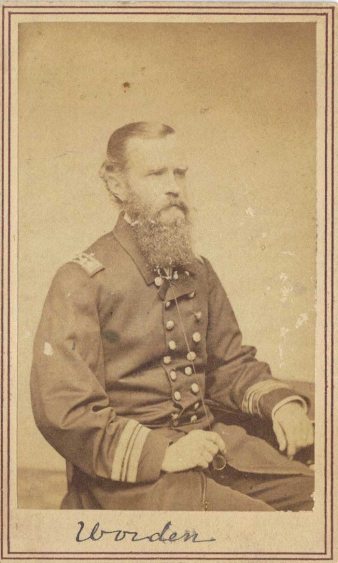 Lieutenant John L. Worden, commander of the Monitor in that historic match between steam-powered ironclads, March 8-9, 1862.
