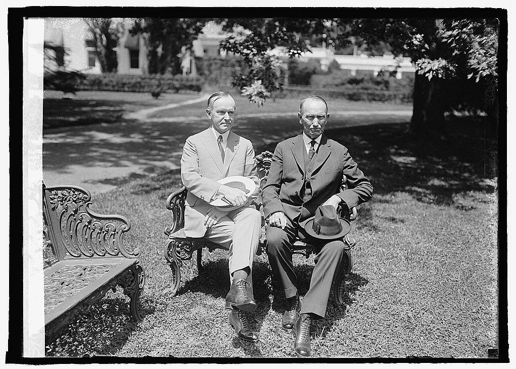 Calvin and his father, John, July 18, 1924
