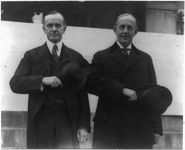 Governor Coolidge with Police Commissioner Edwin U. Curtis