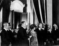 President and Mrs. Coolidge, with Mr. Putnam and others come together to ensure both documents are properly preserved for generations to come, February 28, 1924.
