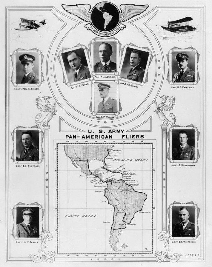 The pilots of the Pan-American Goodwill Flight, 21 December 1926-2 May 1927