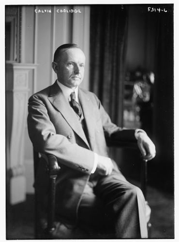 "At the ninth meeting of the Business Organization of the Government, held in June 1925, President Coolidge reminded the States of how they can help or hinder responsible Federal Budgeting, ""Unfortunately the Federal Government has strayed far afield from its legitimate business. It has trespassed upon fields where there should be no trespass. If we could confine our Federal expenditures to the legitimate obligations and functions of the Federal Government a material reduction would be apparent. But far more important than this would be its effect upon the fabric of our constitutional form of government, which tends to be gradually weakened and undermined by this encroachment. The cure for this is not in our hands. It lies with the people. It will come when they realize the necessity of State assumption of State responsibility. It will come when they realize that the laws under which the Federal Government hands out contributions to the States is placing upon them a double burden of taxation - Federal taxation in the first instance to raise the moneys which the Government donates to the States, and State taxation in the second instance to meet the extravagances of State expenditures which are tempted by the Federal donations."""