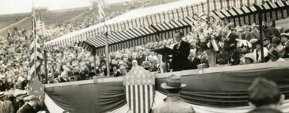 CC speaking at Sesquicentennial 1926
