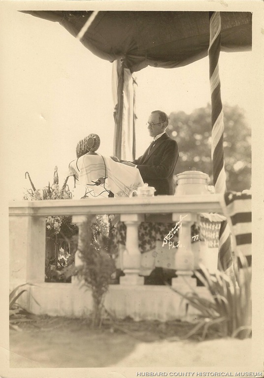 The President at Cannon Falls, dedicating Colvill's memorial