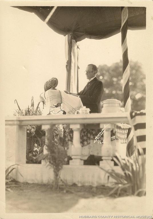 The President at Cannon Falls, dedicating Colvill's memorial