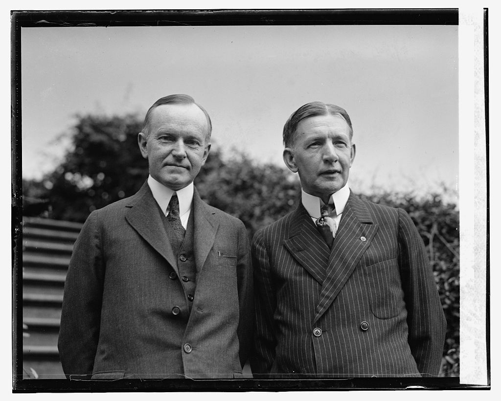 President Coolidge and Vice Presidential running-mate Charles Dawes, July 1924