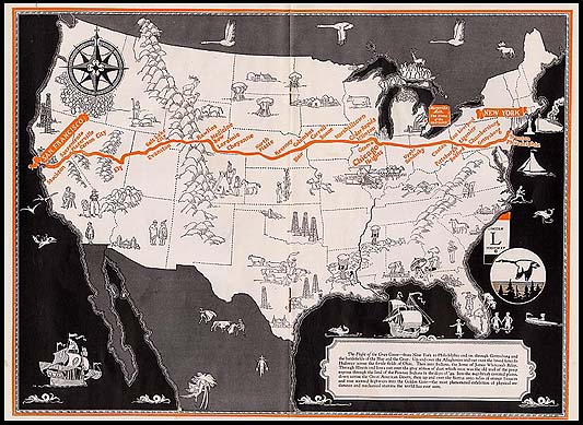 Here is a map following the route the Coolidge-Dawes Lincoln Tour traveled September 9-November 3, 1924. The first of its kind, a cross-country, political road rally spanned some 56 days in duration and crossed 17 states, 6500 miles in total.