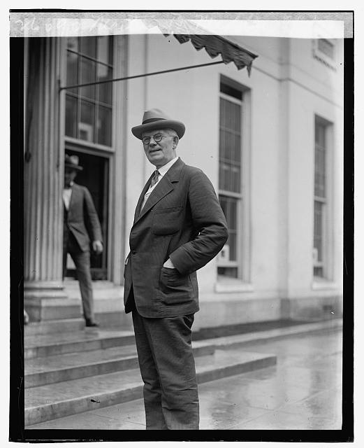 Representative Martin B. Madden (R-IL), chaired the powerful House Appropriations Committee, visiting Coolidge at the White House, September 6, 1923.