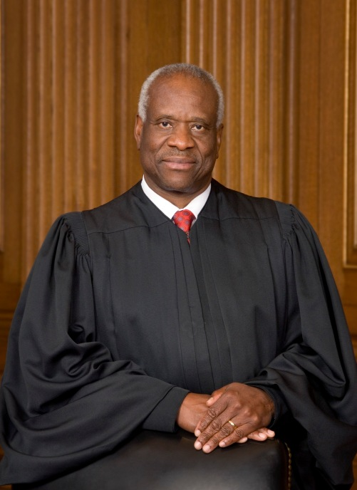 Justice Clarence Thomas, alumnus of Holy Cross College, class of 1971.