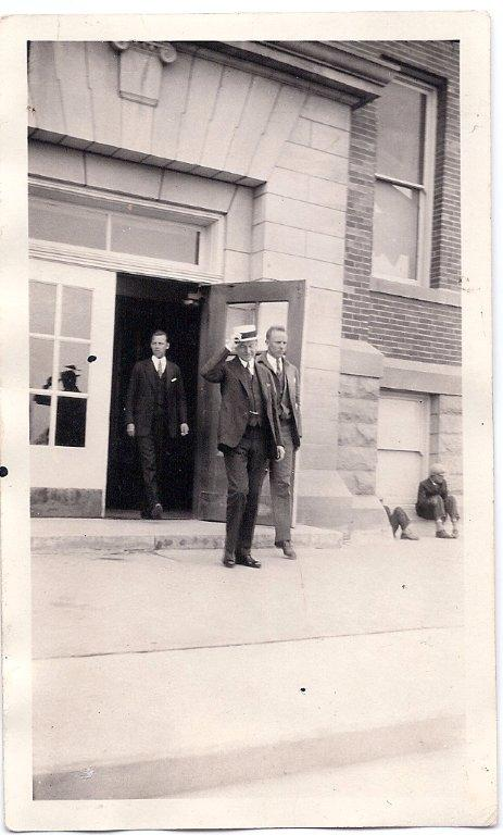 President Coolidge departing the Summer White House, the High School at Rapid City, 1927. Photo taken by John Storm. Courtesy of Wes Storm.