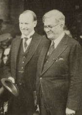 President Coolidge meets President Machado of Cuba, January 1928, during the Pan-American Conference in Havana.