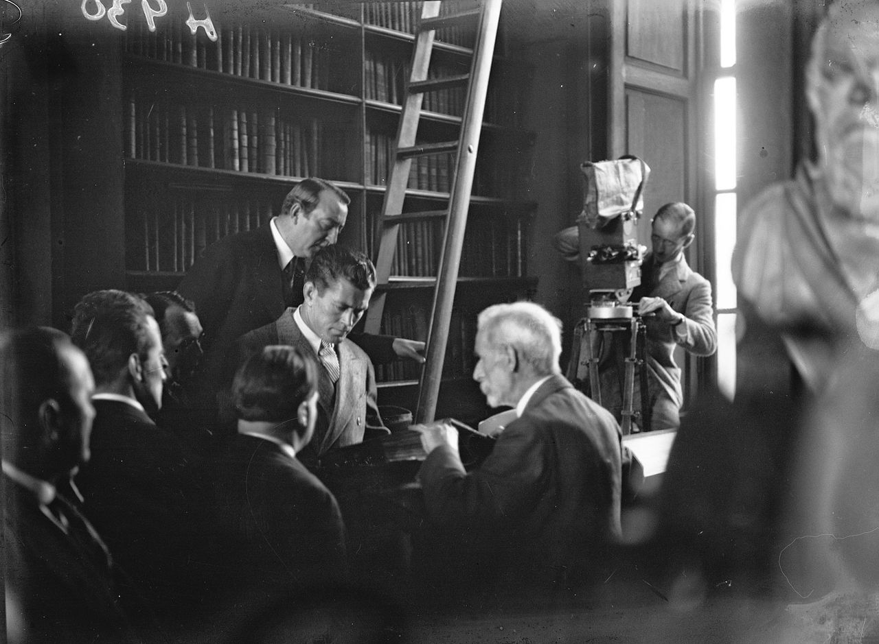 Gene Tunney at the National Library of Ireland's Long Room Library, Trinity College, Dublin, August 24, 1928.