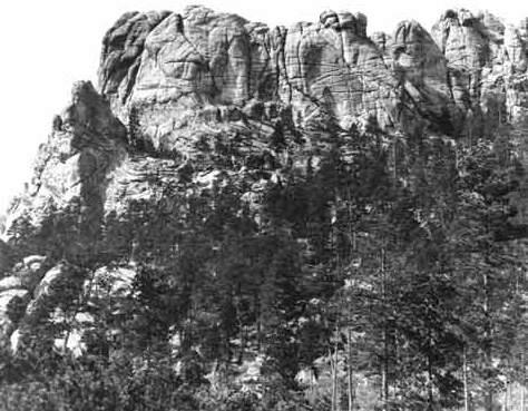 Mount Rushmore, as it appeared before carving began