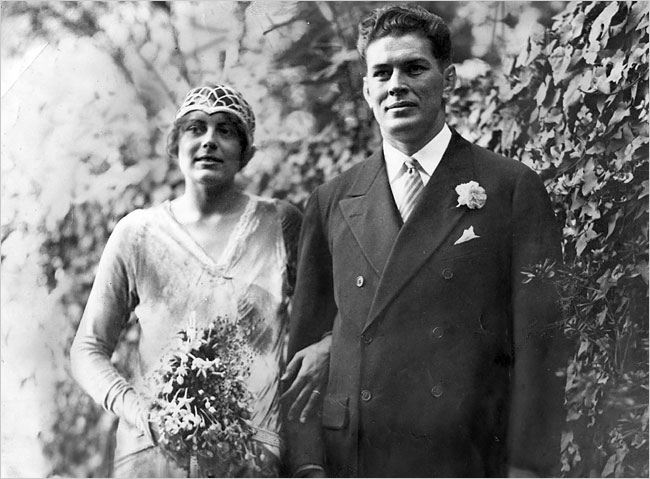 Gene Tunney married Polly Lauder upon his retirement from the ring, October 3, 1928. One of the great romantic matches of the 1920s, the Tunneys were married for 50 years, until his death at age 81 in 1978. She would live to see age 100, passing in 2008.