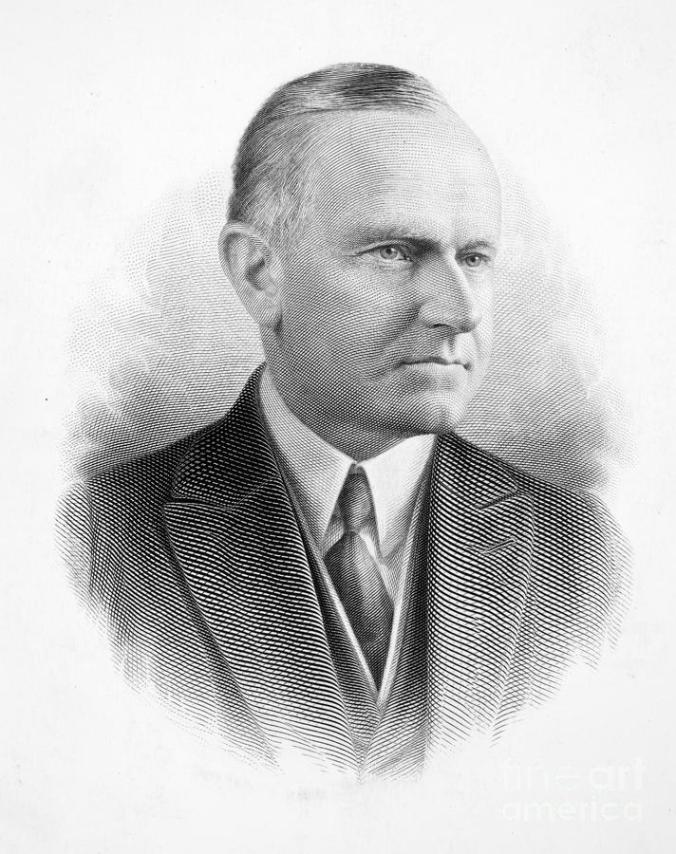 Calvin Coolidge, our thirtieth President, 1923-1929. Courtesy of Granger.