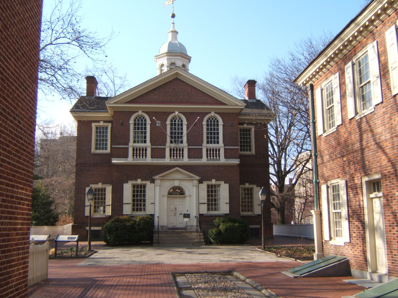 Carpenter's Hall, where the first Continental Congress met, September 25, 1774. President Coolidge commemorated the 150th anniversary of that meeting here in 1924.