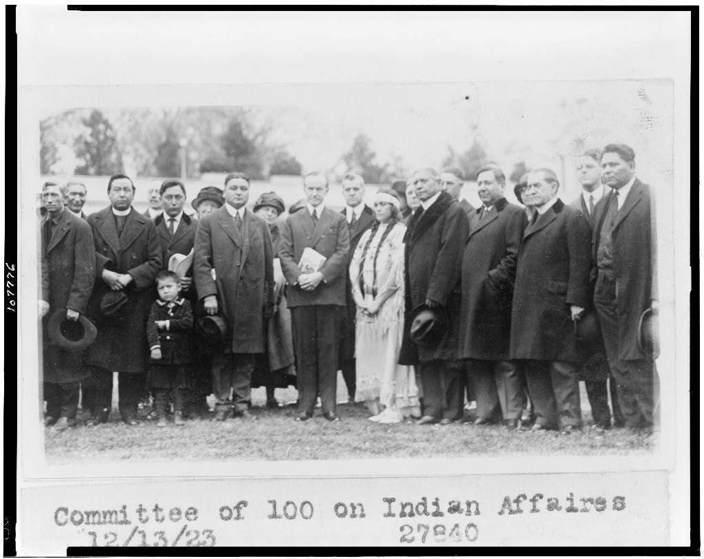 Committee of 100 on Indian Affaires 12-13-1923