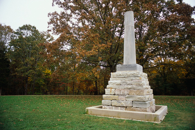 10. Meriwether Lewis National Monument, established February 6, 1925; Gravesite added to the Natchez Trace Parkway in 1961. Courtesy of Connie Ricca/Corbis.