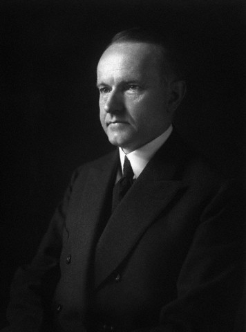 Half-length Portrait of President Calvin Coolidge