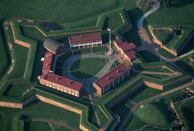 12. Fort McHenry National Military Park, established March 3, 1925. It was on this day, September 13, in 1814, that Americans successfully held off the British through the night and inspired Francis Scott Key to write what would become our National Anthem. Courtesy of Paul A. Souders/Corbis.
