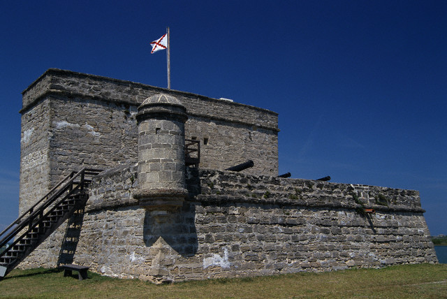 5. Fort Matanzas, Saint Augustine, Florida. The structure was built between 1740 and 1742, fifty plus years after the Castillo de San Marcos. Coolidge signed the Act establishing both as National Monuments the same day, October 15, 1924. Courtesy of Lee Snider/Photo Images/Corbis.