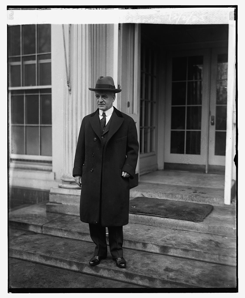 Dwight Morrow, leaving the White House, December 2, 1925.