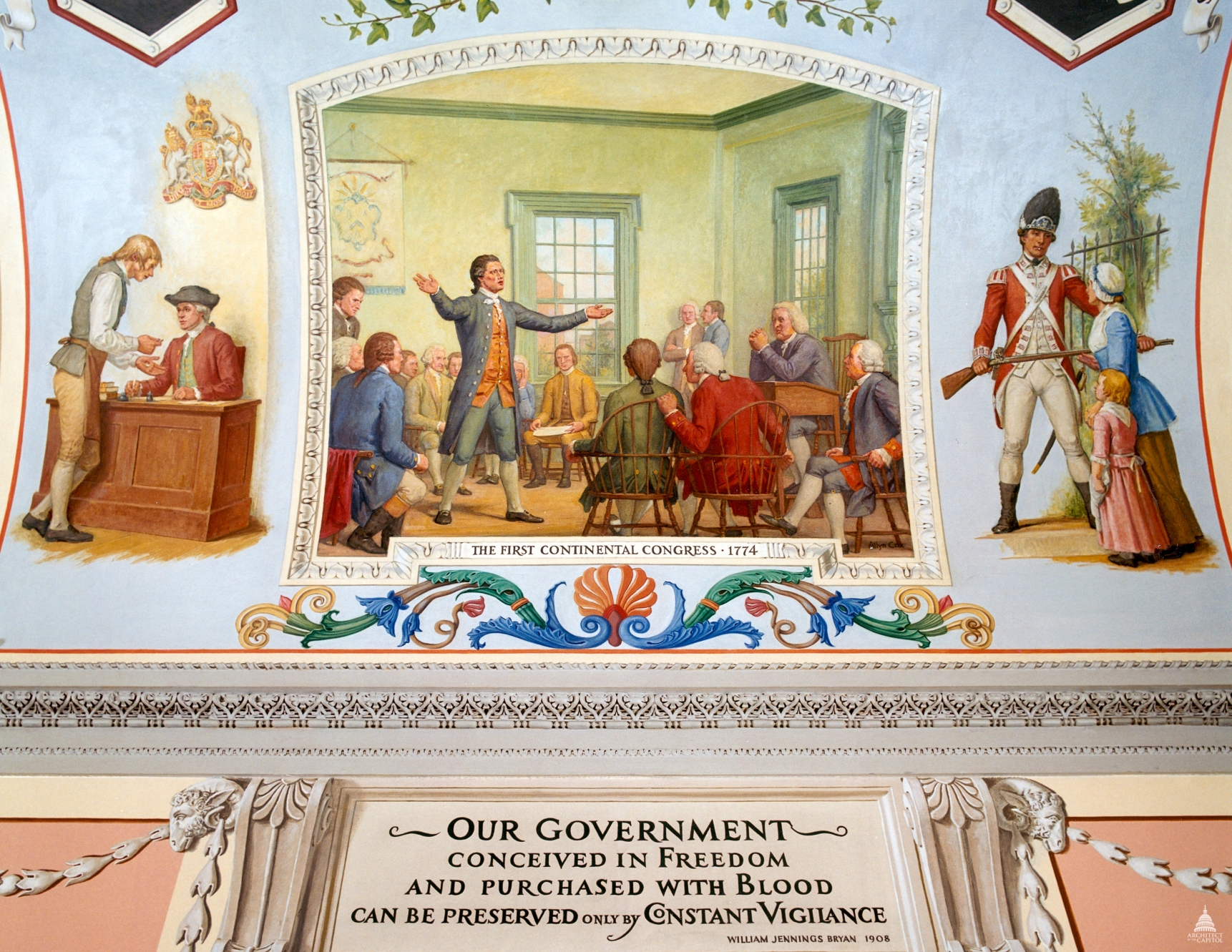 Mural at the U. S. Capitol, Washington, D. C.