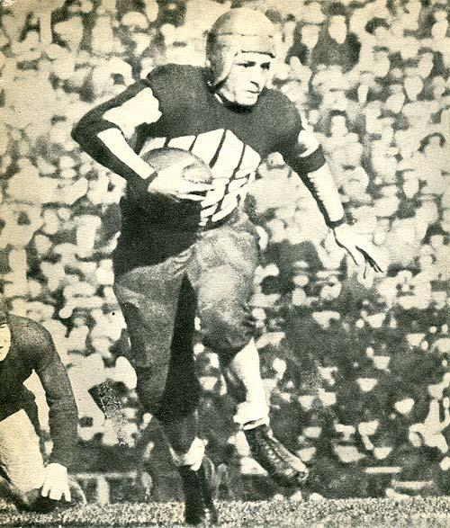 """Red"" Grange, the ""Galloping Ghost"" on the field, 1925."