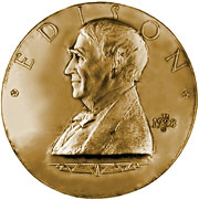 The Congressional Gold Medal presented to Thomas Edison, 1928.