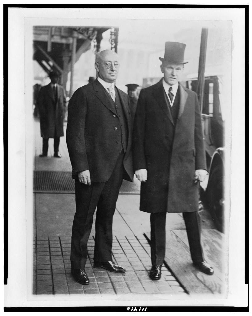 CC with Thomas W. Page, President of the National Tax Association, 1925, which since 1907 dedicated itself to a proper understanding and sound appraisal of public finance, tax theory and their consistent and prudent application to public policy.