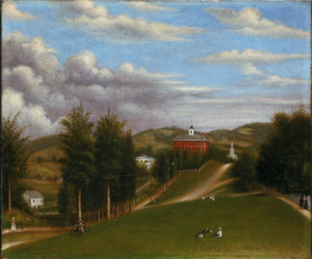 "Colonel Williams' ""Free School,"" established 1793 as Williams College"