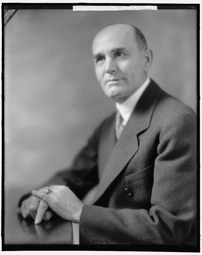 Secretary of Agriculture William M. Jardine, chosen by President Coolidge as one of the first of a number of Cabinet changes with Coolidge's new term, March 4, 1925.