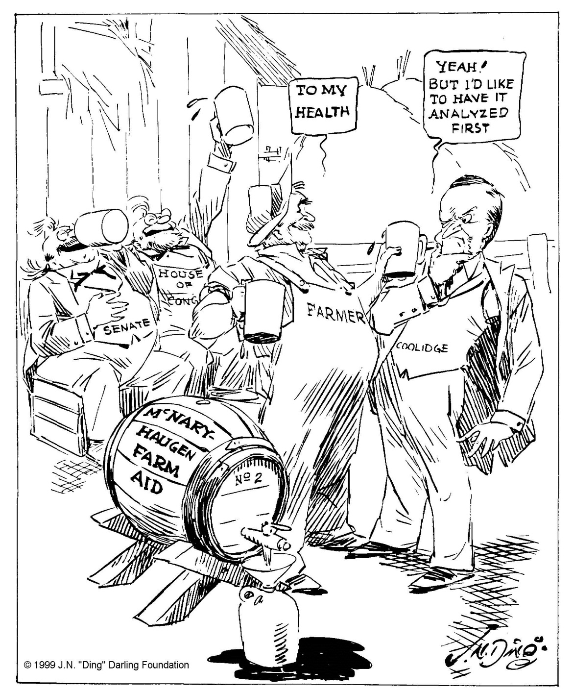 """Safety first,"" by ""Ding"" Darling, The Des Moines Register, April 10, 1928. Courtesy of the Ding Darling Foundation."