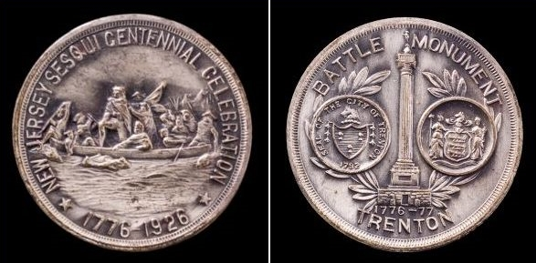 The Sesquicentennial Coin circulated at the time President Coolidge came to speak in Trenton.