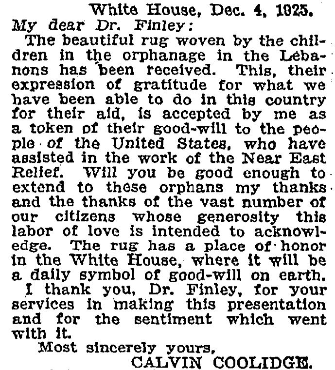 Reprinted in the New York Times, December 4, 1925. Courtesy of the NYT Archives.