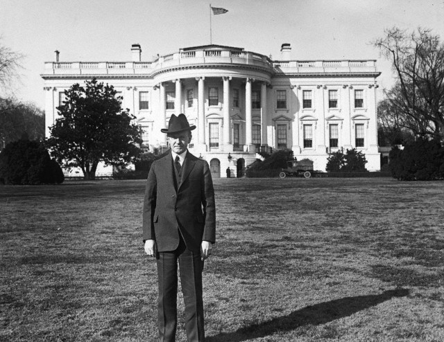 President Coolidge on the White House lawn, 1925.