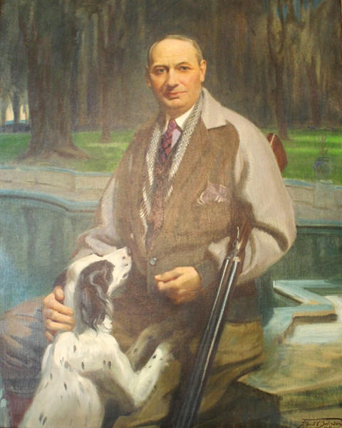 Howard E. Coffin, auto industry pioneer and instrumental developer of the Golden Isles economy along coastal Georgia, Coffin was appointed by President Coolidge for his expertise on aviation to the Morrow Board to study and report recommendations on the improvement of air technology. This portait, painted by Frank O. Salisbury was done at the request of Calvin Coolidge, who wanted to honor, if not repay, his kind hosts after so enjoyable a stay in Georgia.