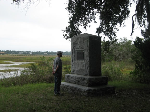 Visiting the monument at Bloody Marsh this past fall, Sea Island, Georgia.