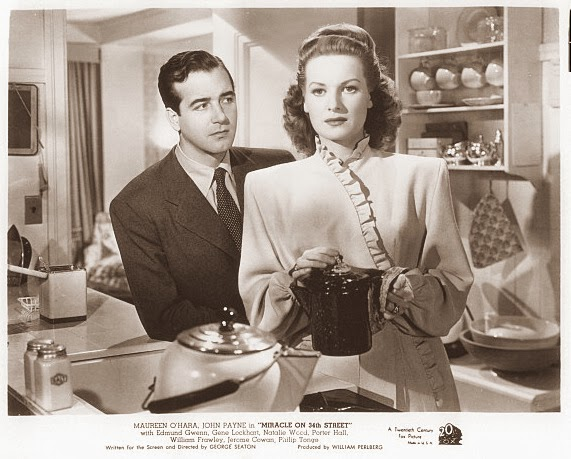 """Look Doris, someday you're going to find that your way of facing this realistic world just doesn't work. And when you do, don't overlook those lovely intangibles. You'll discover those are the only things that are worthwhile..."" John Payne's Mr. Gailey to Maureen O'Hara's Doris Walker."