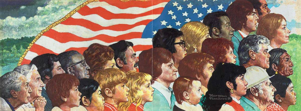 """Portrait of America"" by Norman Rockwell. Courtesy of http://www.hannaharendtcenter.org/wp-content/uploads/2014/09/151.jpg."