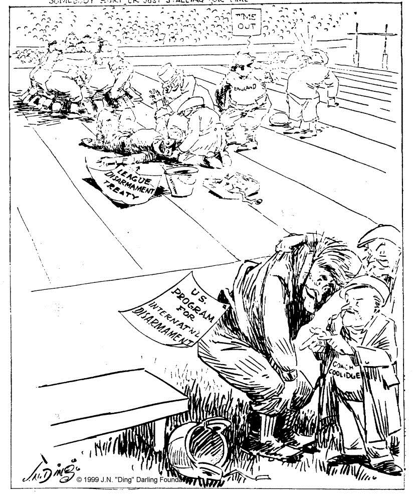 """""""Somebody hurt or just stalling for time?"""" by """"Ding"""" Darling, The Des Moines Register, November 30, 1924. Courtesy of the Ding Darling Foundation."""