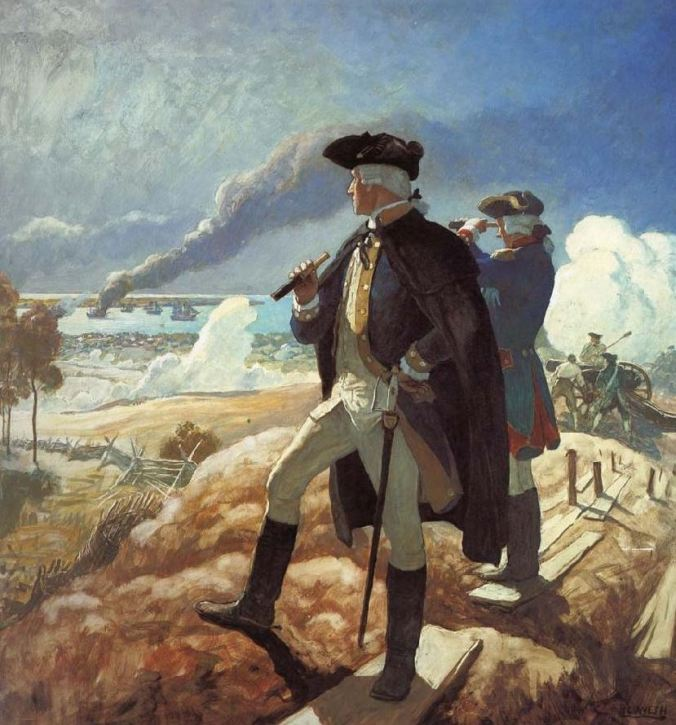 Washington at Yorktown, depicted by N. C. Wyeth.