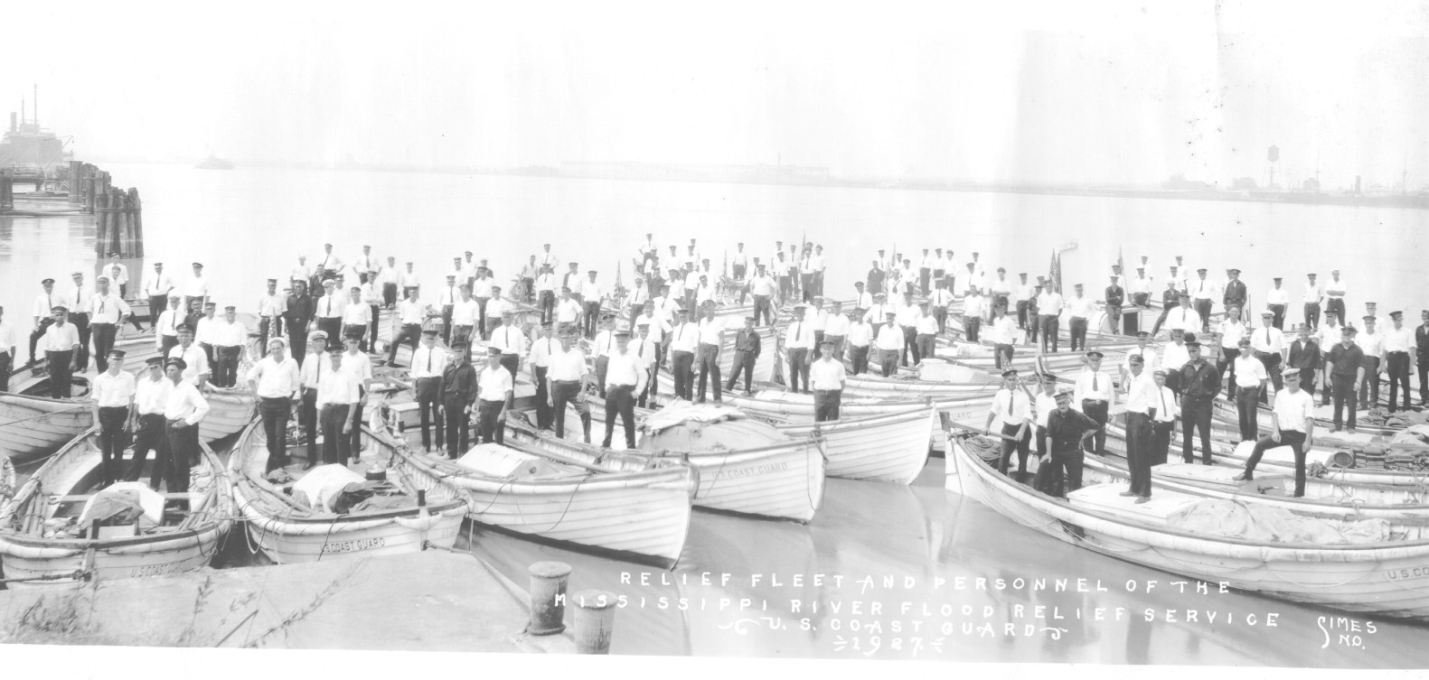 "The U.S. Coast Guard's ""Relief Fleet"" assembled to meet the emergency, 1927."