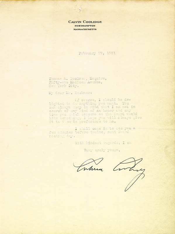 CC letter 2-27-1931