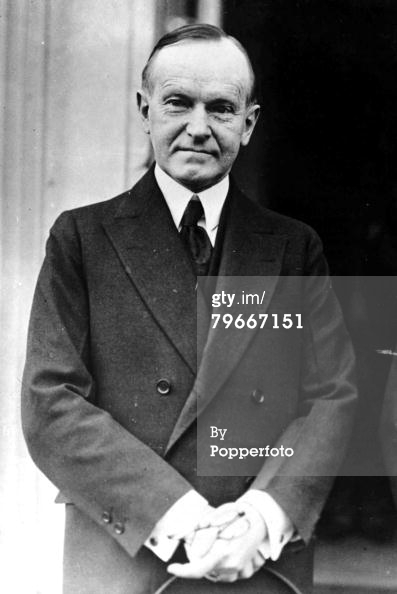 Former President Coolidge, January 1932. Courtesy of Getty Images.