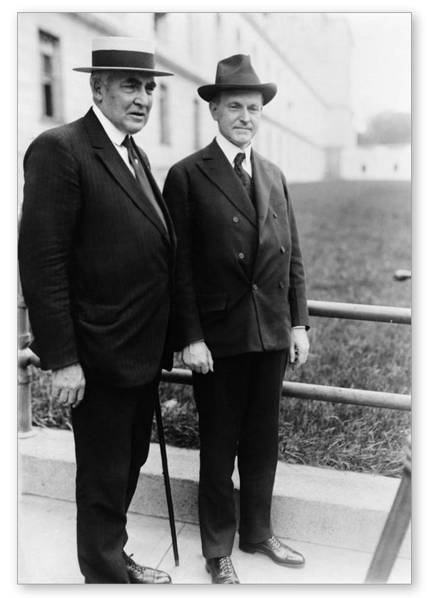 Harding and Coolidge, June 1920