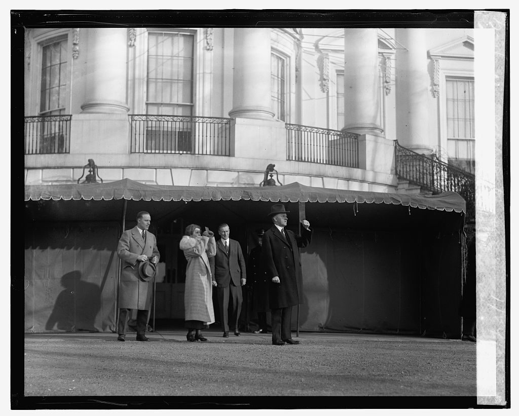 Using blackened window panes to view the event, the Coolidges witness the second such phenomenon, the first time being back in fall of 1923.