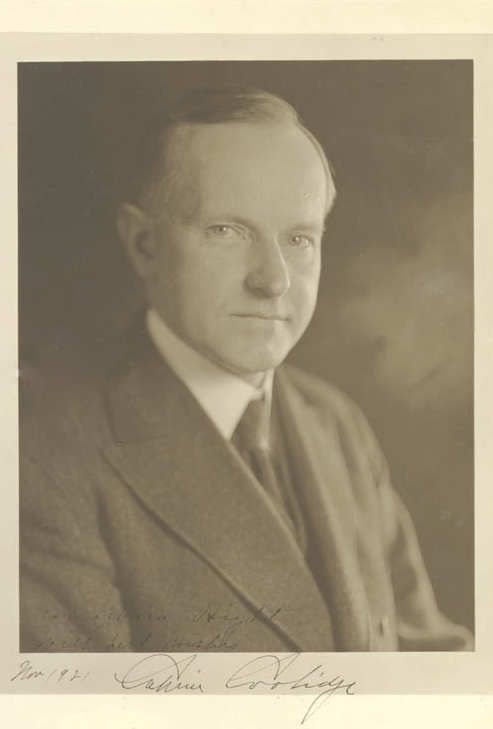 Calvin Coolidge, November 1921